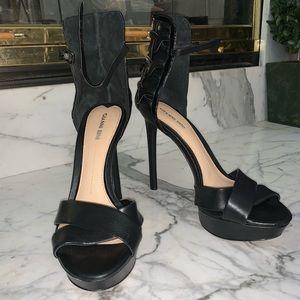 Leather strap heels